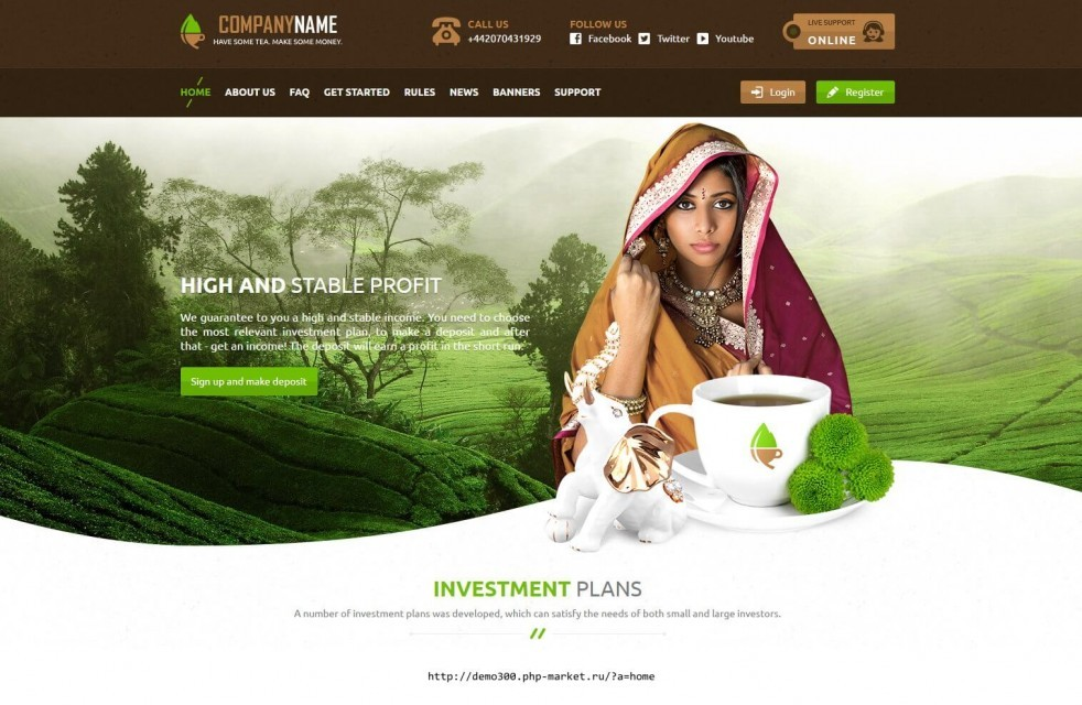 Templates GoldCoders investments in tea ENG
